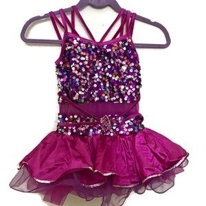 Weissman Sequined Rhinestone Dance Dress Costume M